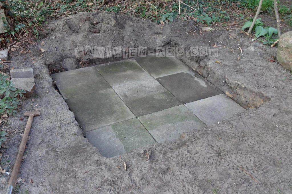 Gehwegplatten für Sandkasten