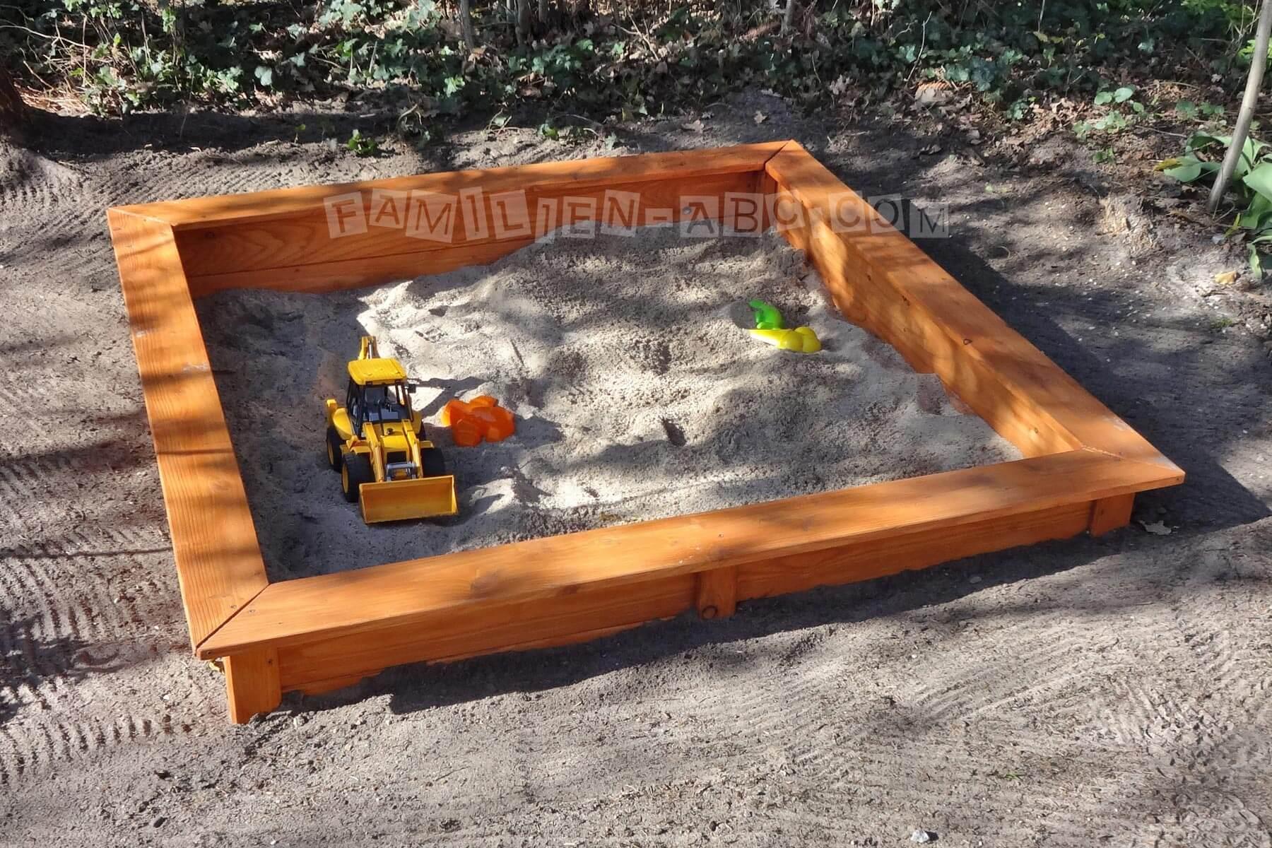sandkiste bauen